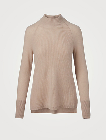 WHITE + WARREN Cashmere Mixed Stitch Sweater Women's Beige