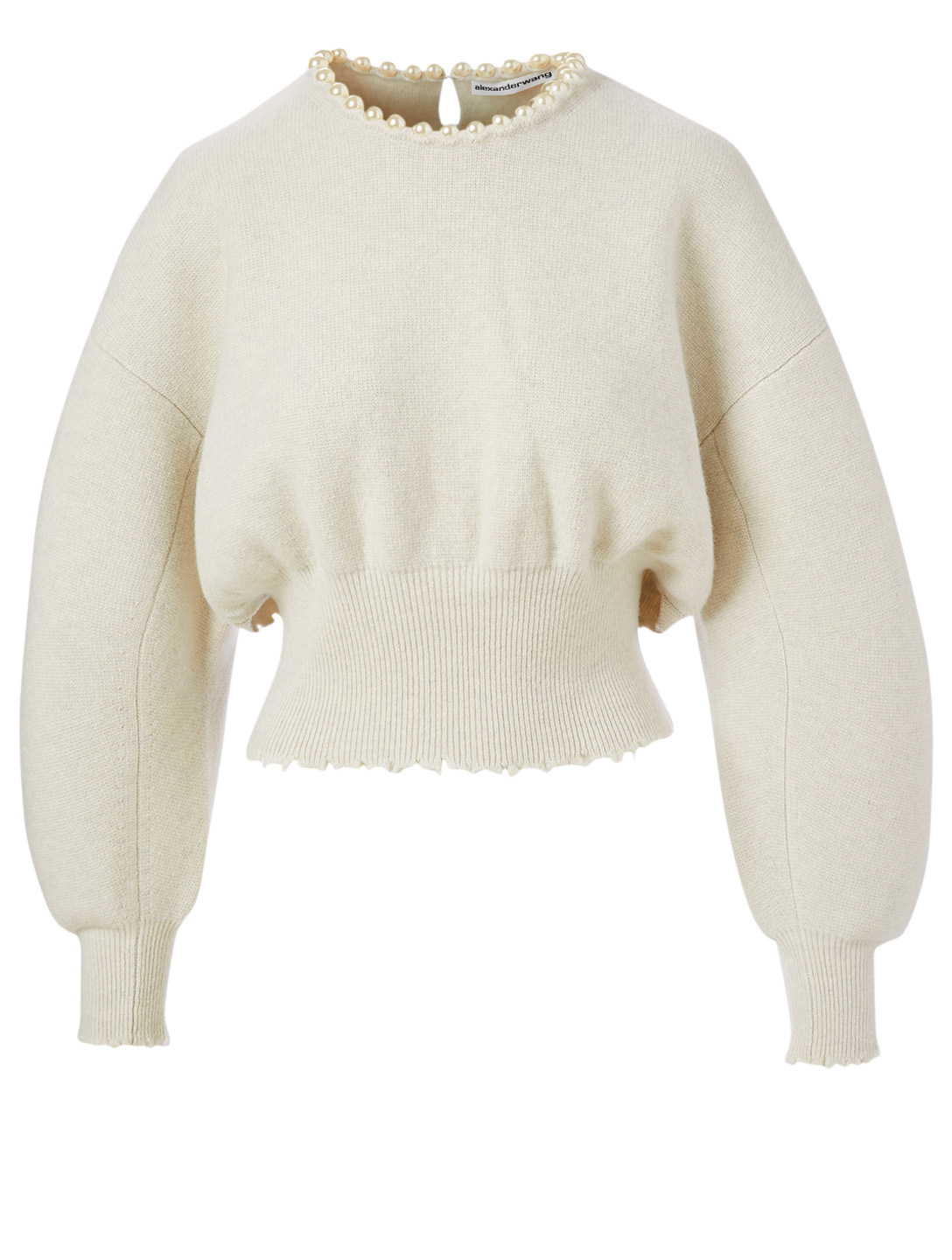 ALEXANDER WANG Wool And Cashmere Sweater With Necklace Women's White