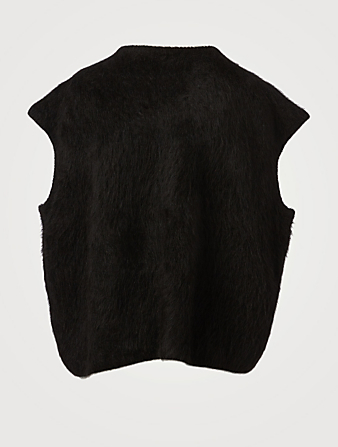 TOTÊME Alpaca-Blend Top Women's Black