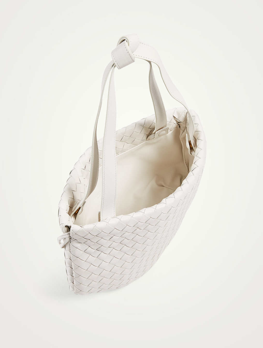 BOTTEGA VENETA Sac The Small Bulb en cuir Intrecciato Femmes Blanc