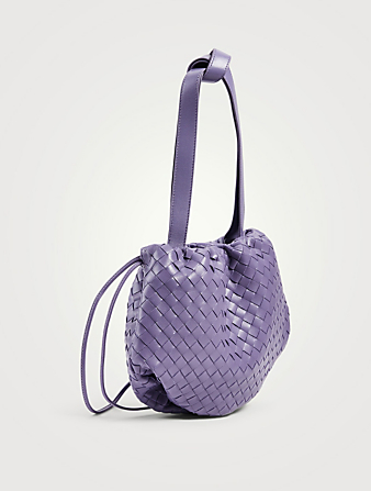 BOTTEGA VENETA Sac The Small Bulb en cuir Intrecciato Femmes Pourpre