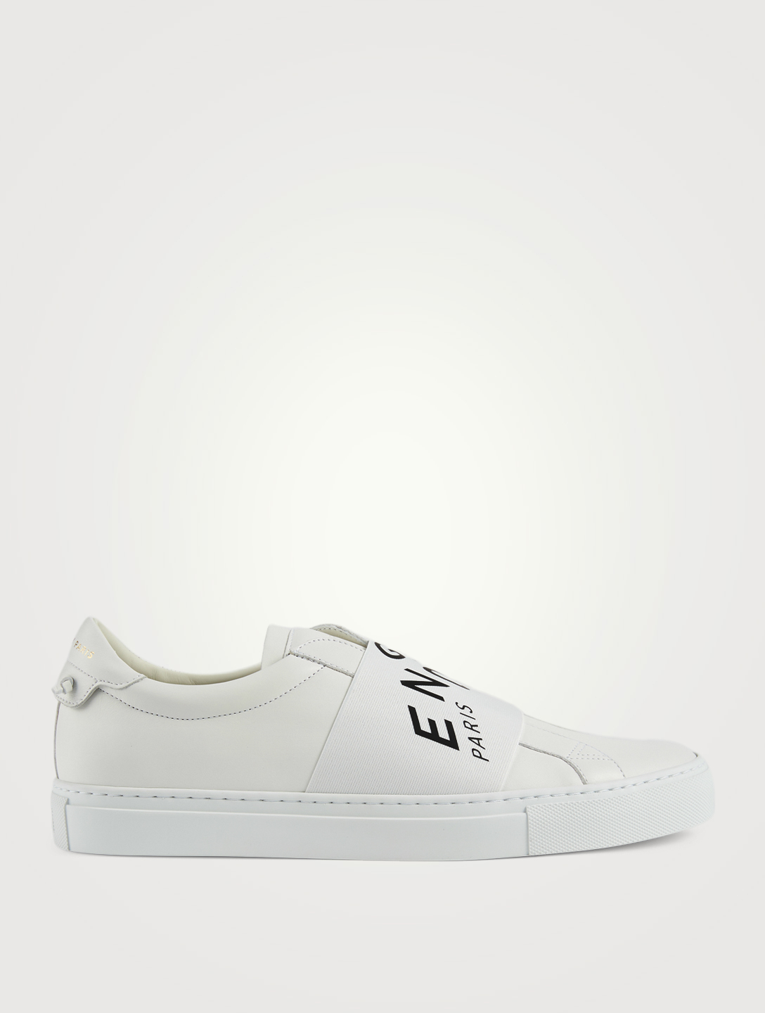 GIVENCHY Urban Street Leather Slip-On Sneakers With Refracted Logo Band Men's Multi