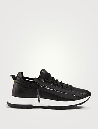 GIVENCHY Spectre Perforated Leather Runner Sneakers With Logo Zip Men's Multi