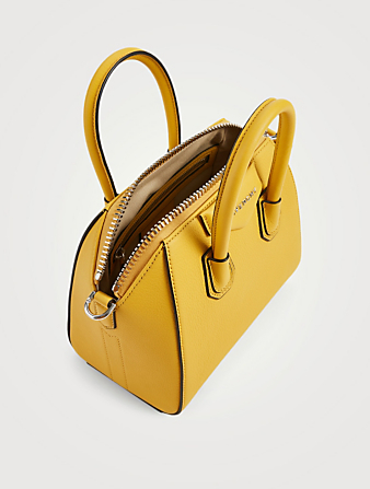 GIVENCHY Mini Antigona Leather Bag Women's Yellow