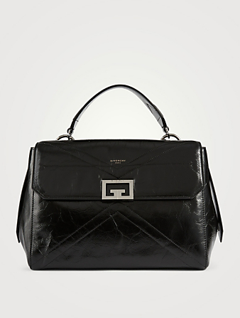 GIVENCHY Medium ID Leather Top Handle Bag Women's Black