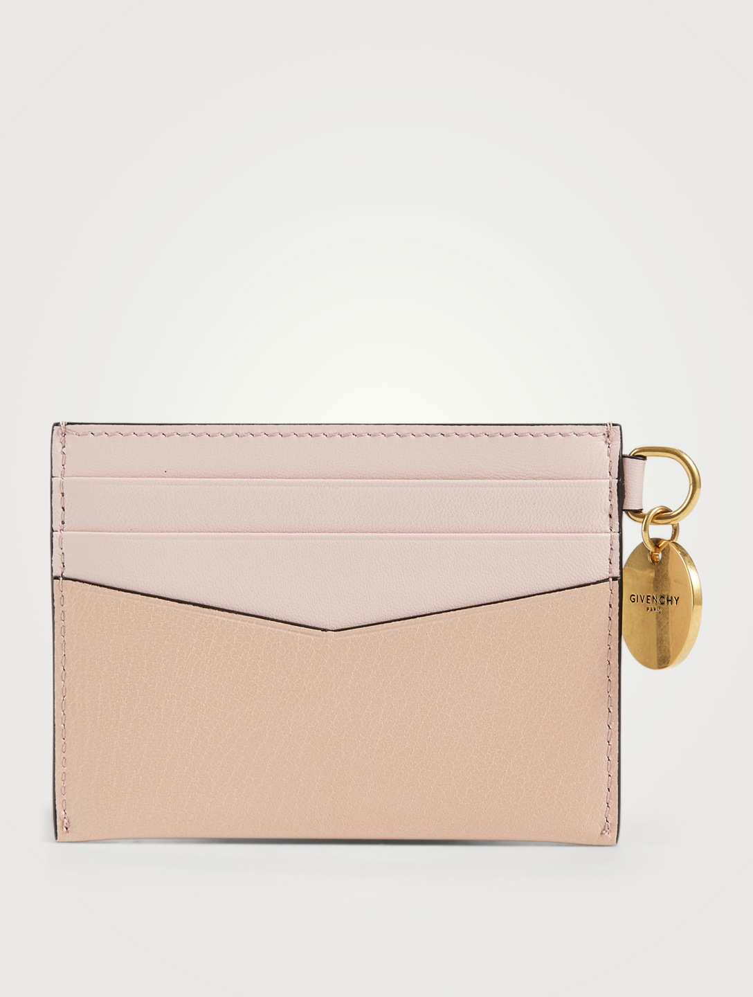 GIVENCHY Edge Leather Card Holder Women's Pink