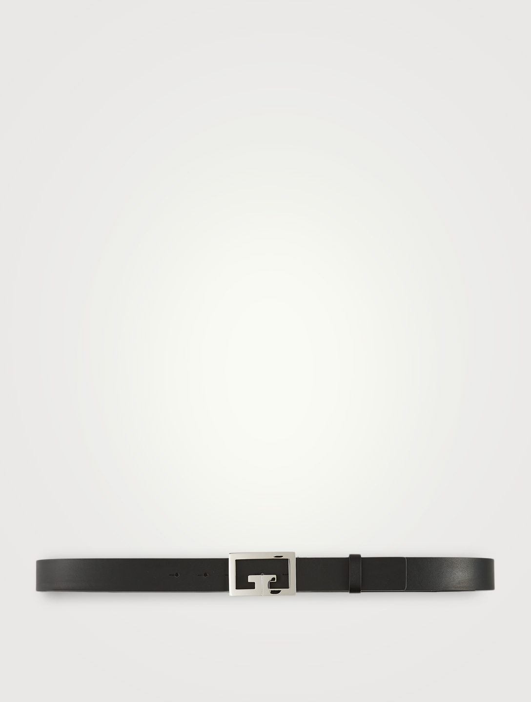GIVENCHY Double G Buckle Leather Belt Men's Black
