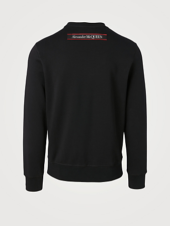 ALEXANDER MCQUEEN Cotton Sweatshirt With Selvedge Logo Men's Black