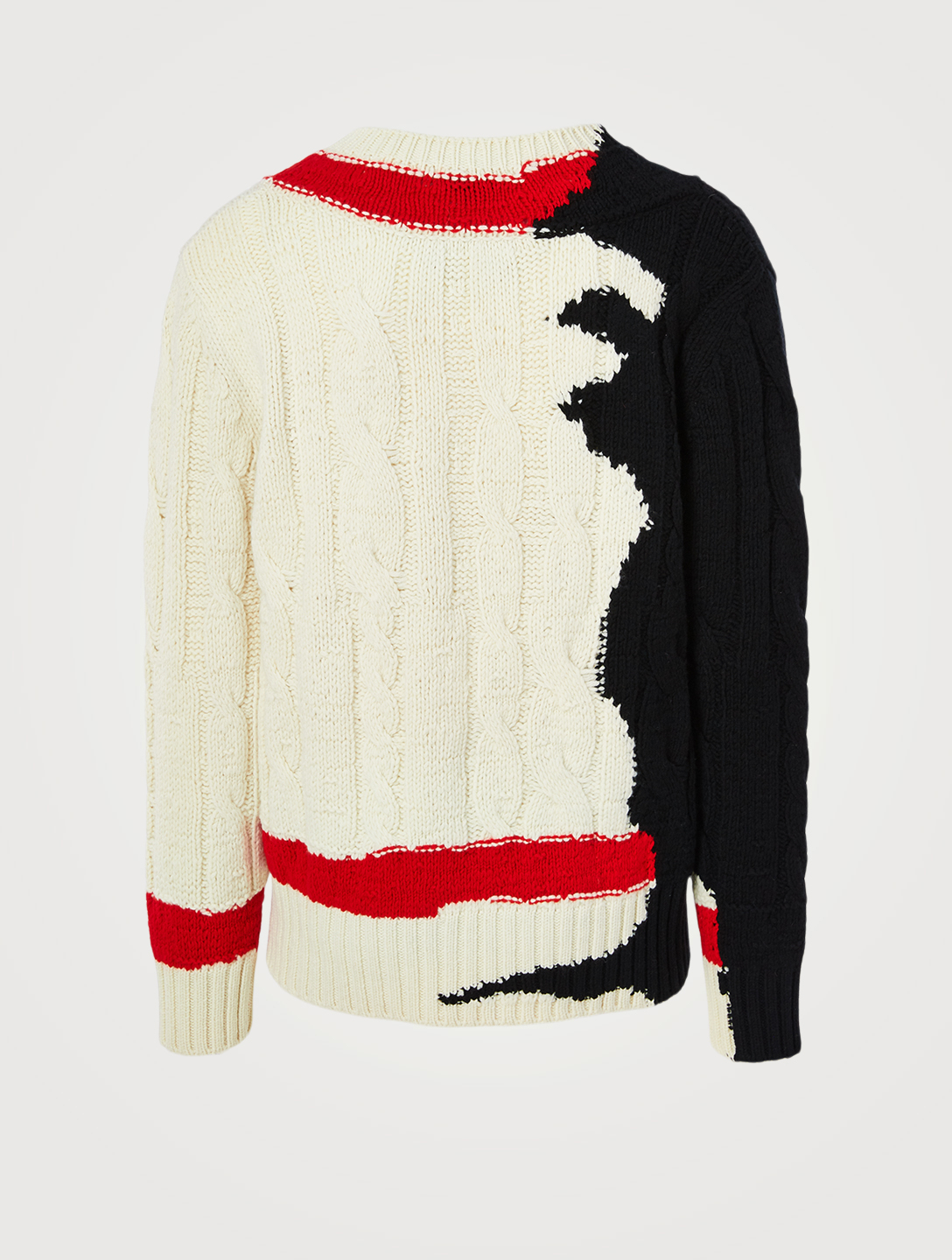 ALEXANDER MCQUEEN Wool Sweater With Ink Bleeding Intarsia Men's Multi