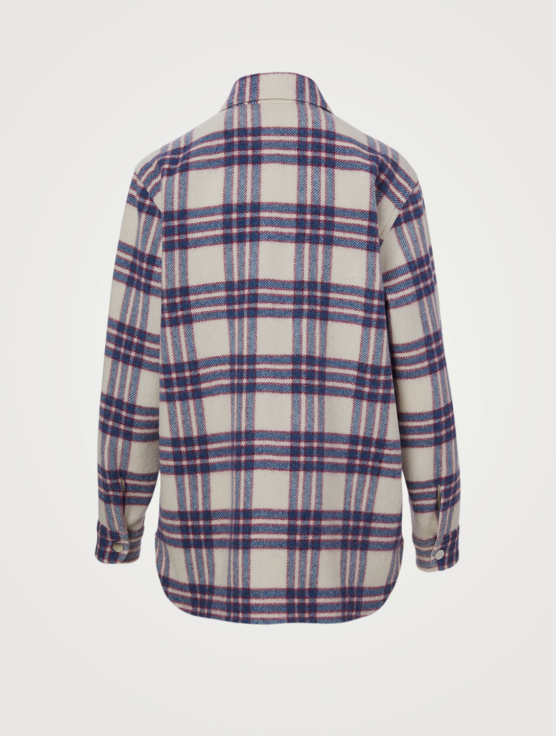 ISABEL MARANT ÉTOILE Faxonli Shirt Jacket In Plaid Print Women's Blue
