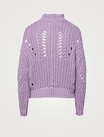 ISABEL MARANT ÉTOILE Jarren Open-Stitch Sweater Women's Purple