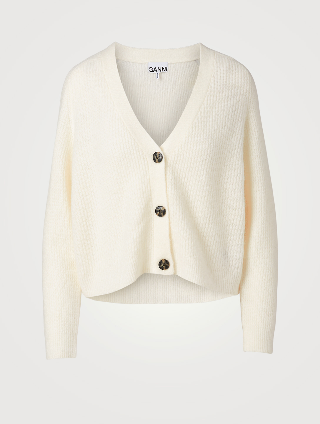 GANNI Alpaca And Wool Cardigan Women's White