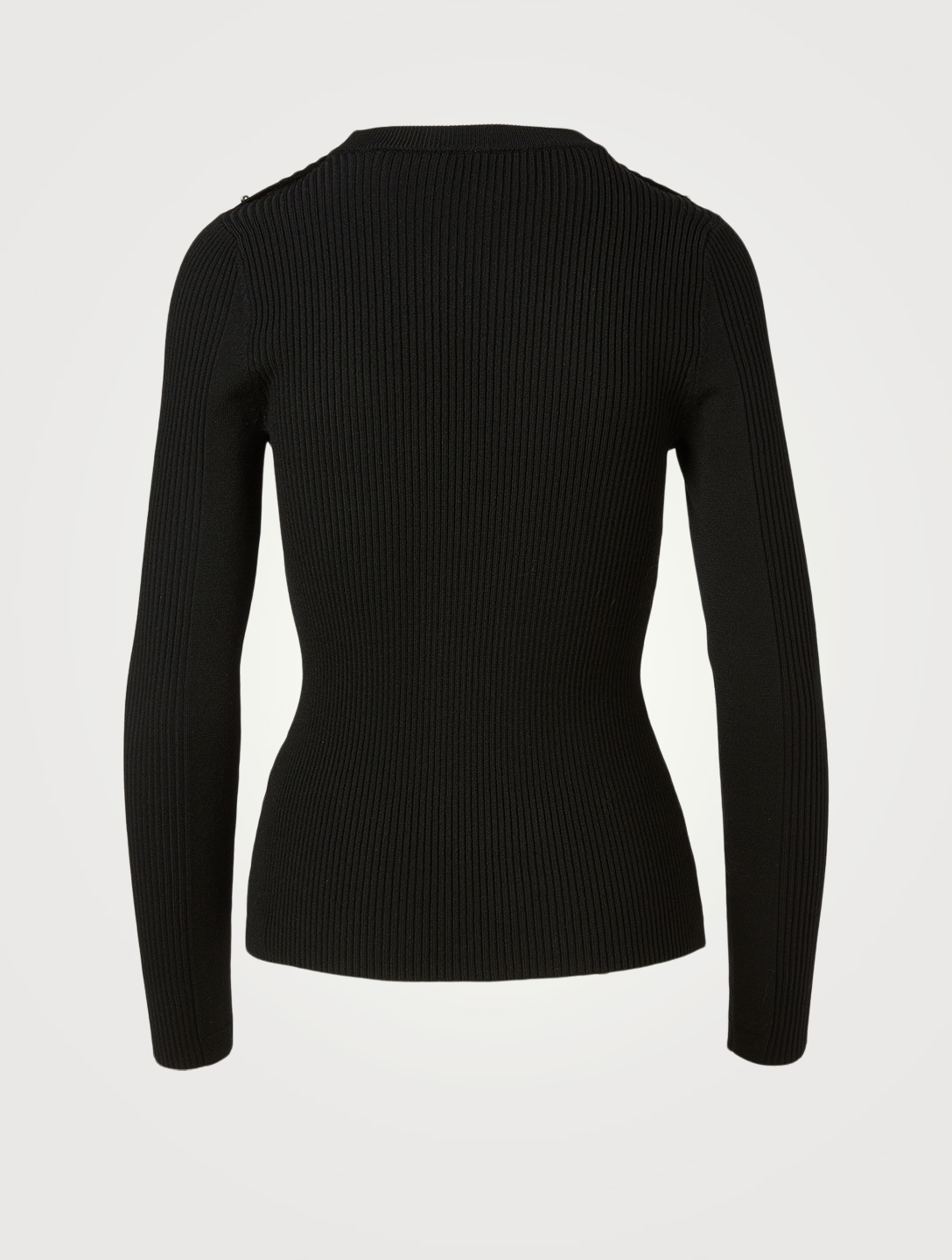 3.1 PHILLIP LIM Wool-Blend Ribbed Knit Top Women's Black