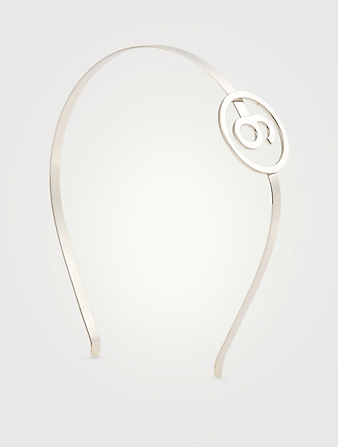 MM6 MAISON MARGIELA 6 Logo Hairband Women's Metallic