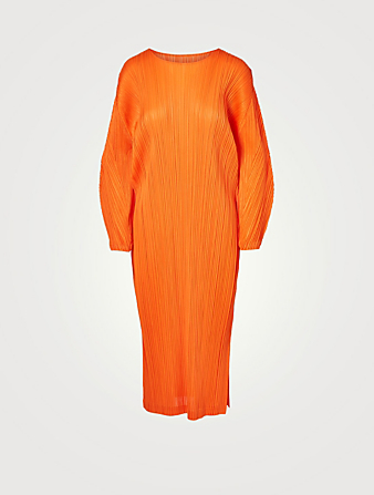PLEATS PLEASE ISSEY MIYAKE Monthly Colours January Midi Dress Women's Orange