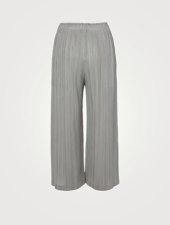 PLEATS PLEASE ISSEY MIYAKE Thicker Bottoms 2 Straight-Leg Pants Women's Grey