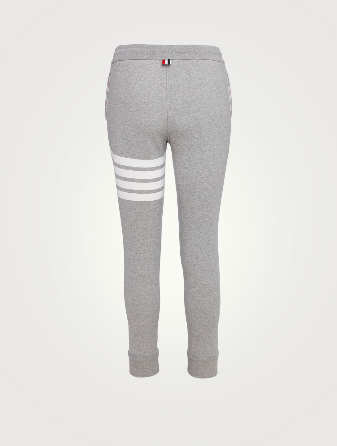 THOM BROWNE Loop Back Sweatpants With Four-Bar Stripe Women's Grey