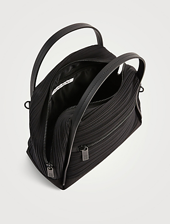 PLEATS PLEASE ISSEY MIYAKE Small Bias Pleats Satchel Bag Women's Black
