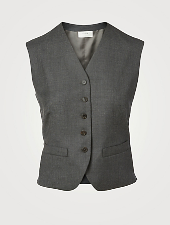 THE ROW Gilet Vega en laine Femmes Gris