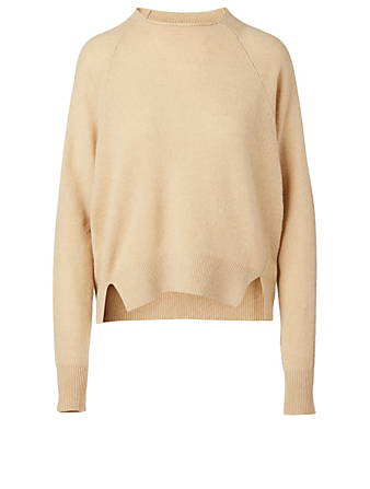 FRAME Cashmere And Wool Crewneck Sweater Women's Beige