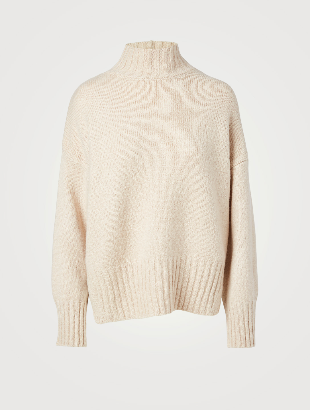 FRAME Wool And Silk Turtleneck Sweater Women's Beige