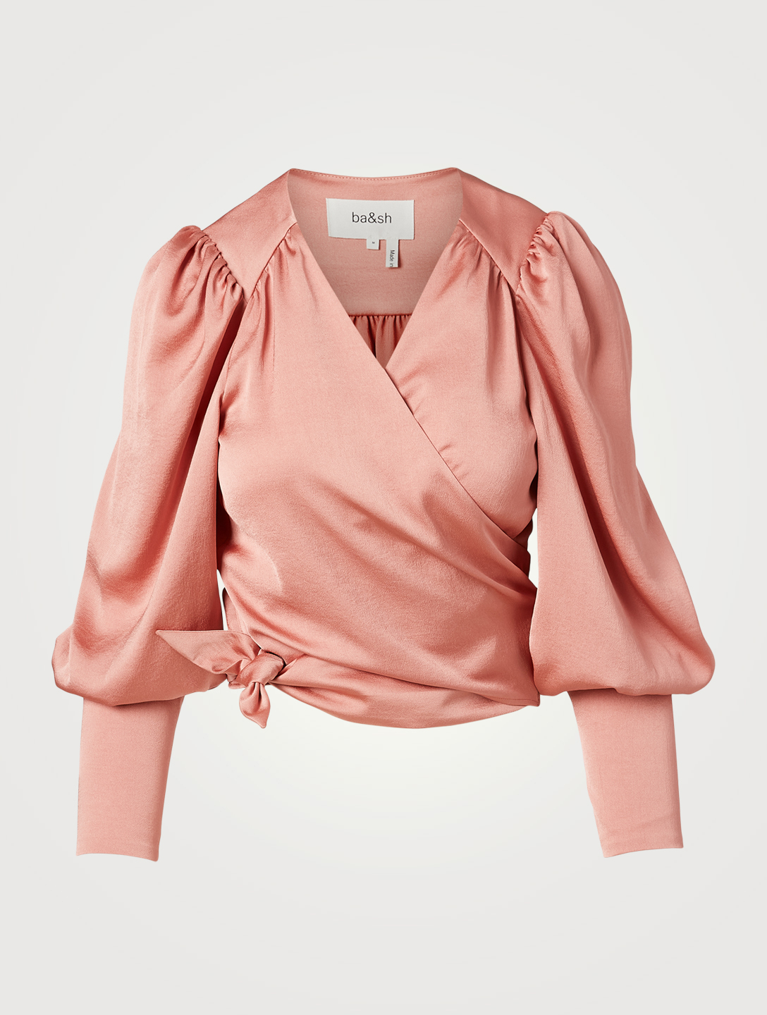 BA&SH Boum Cropped Wrap Top Women's Pink