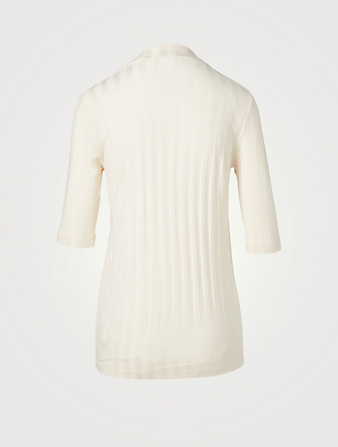 HOPE Ribbed Mockneck T-Shirt Women's White