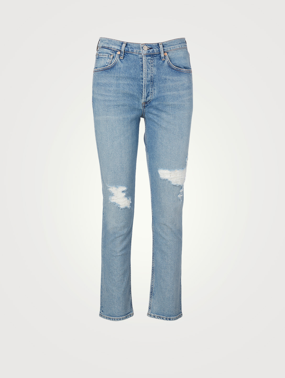 CITIZENS OF HUMANITY Charlotte High-Waisted Straight Jeans Women's Blue