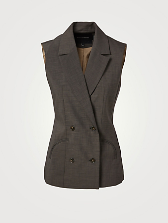 BIRGITTE HERSKIND Banner Double-Breasted Vest Women's Green