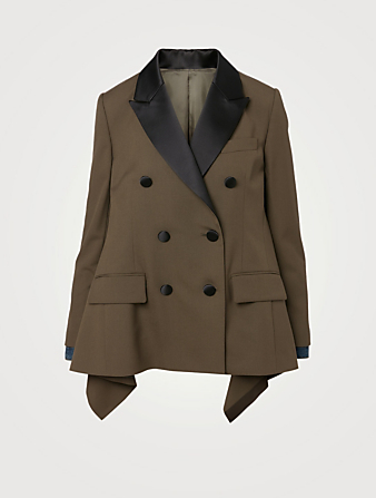 Ladyes \u0432ussines stylish blazer Single breasted cut waist blazer Leather color and flaps Bonellilux Stretch blazer leather combined