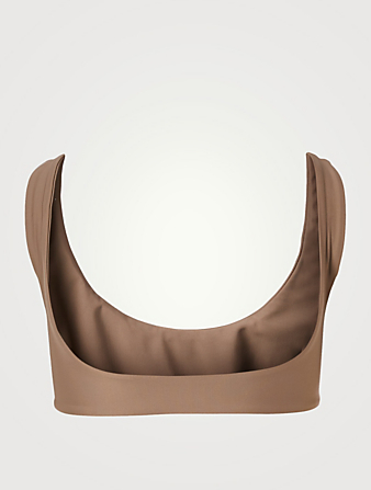 JADE SWIM Rounded Edges Bikini Top H Project Beige