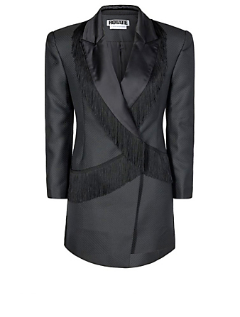 ROTATE BY BIRGER CHRISTENSEN Shannon Mini Blazer Dress Women's Black