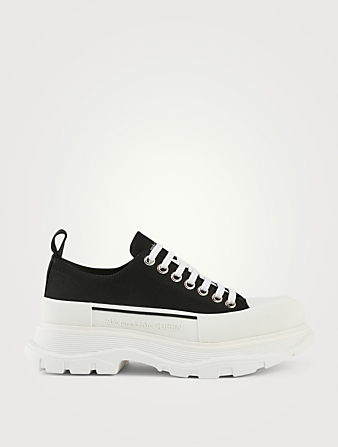 ALEXANDER MCQUEEN Tread Slick Canvas Sneakers Men's Black