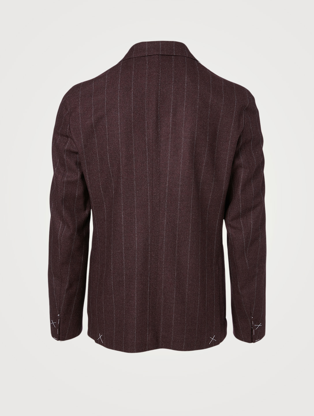 ELEVENTY Wool And Cashmere Jacket In Striped Print Men's Red