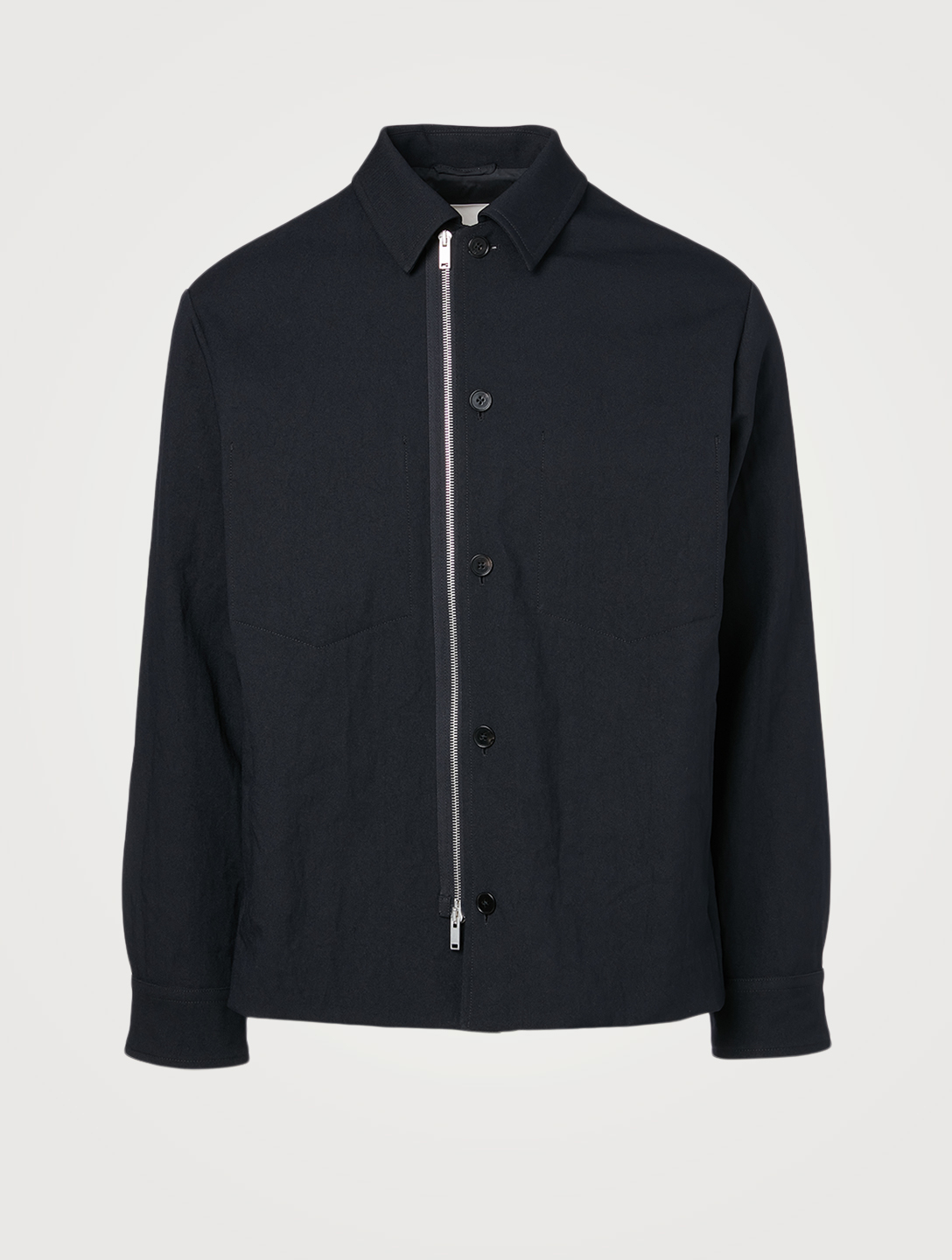 JIL SANDER Blouson Shirt Jacket Men's Blue