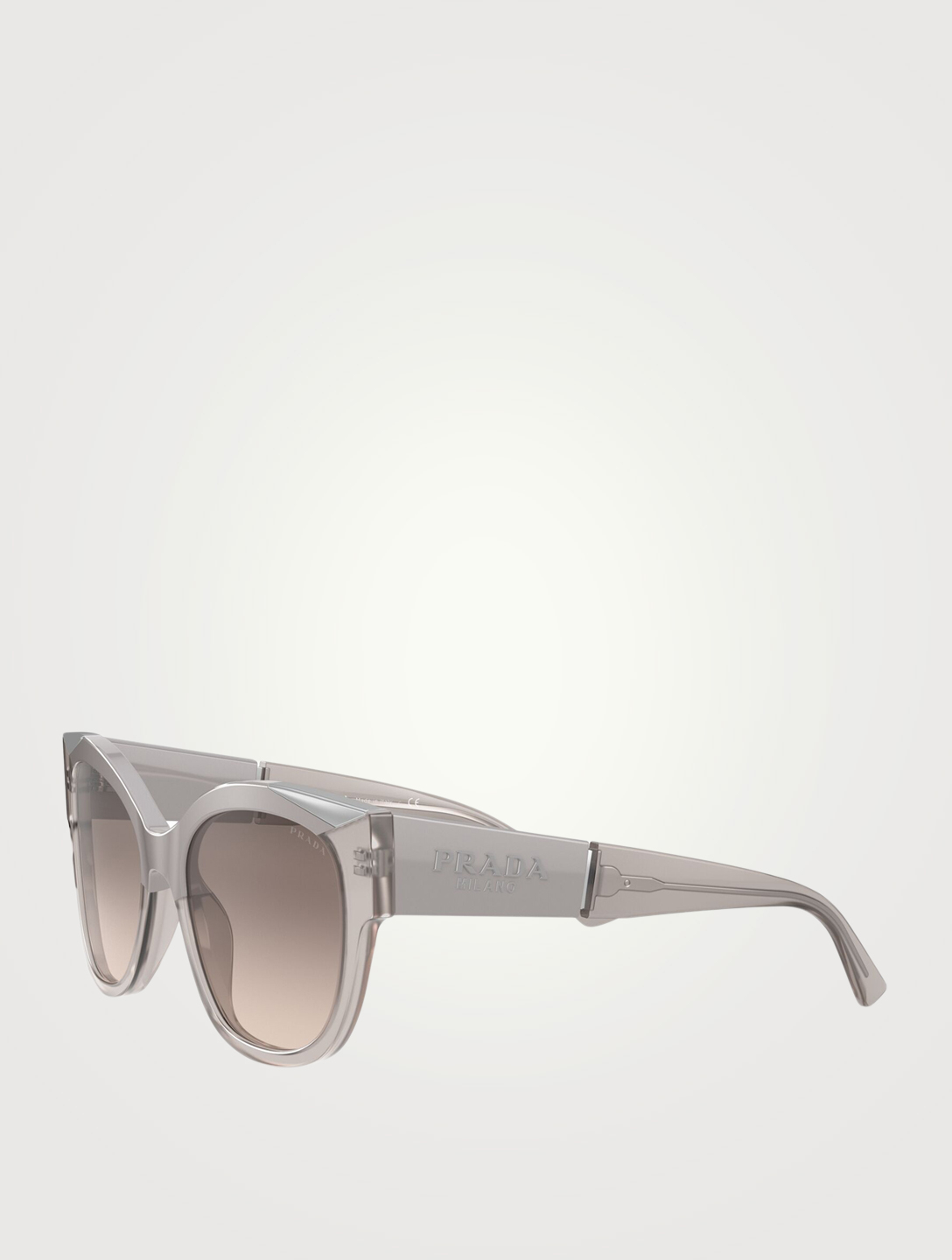 PRADA Monochrome Pillow Sunglasses Women's Grey