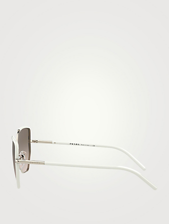 PRADA Cat Eye Sunglasses Women's White