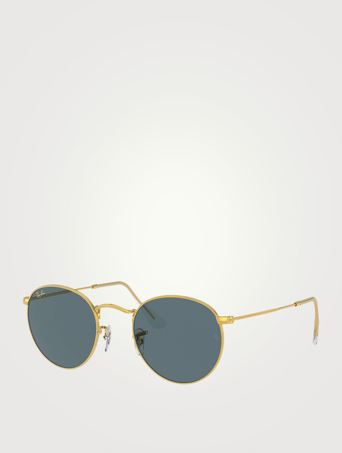 RAY-BAN RB3447 Round Metal Sunglasses Men's Metallic