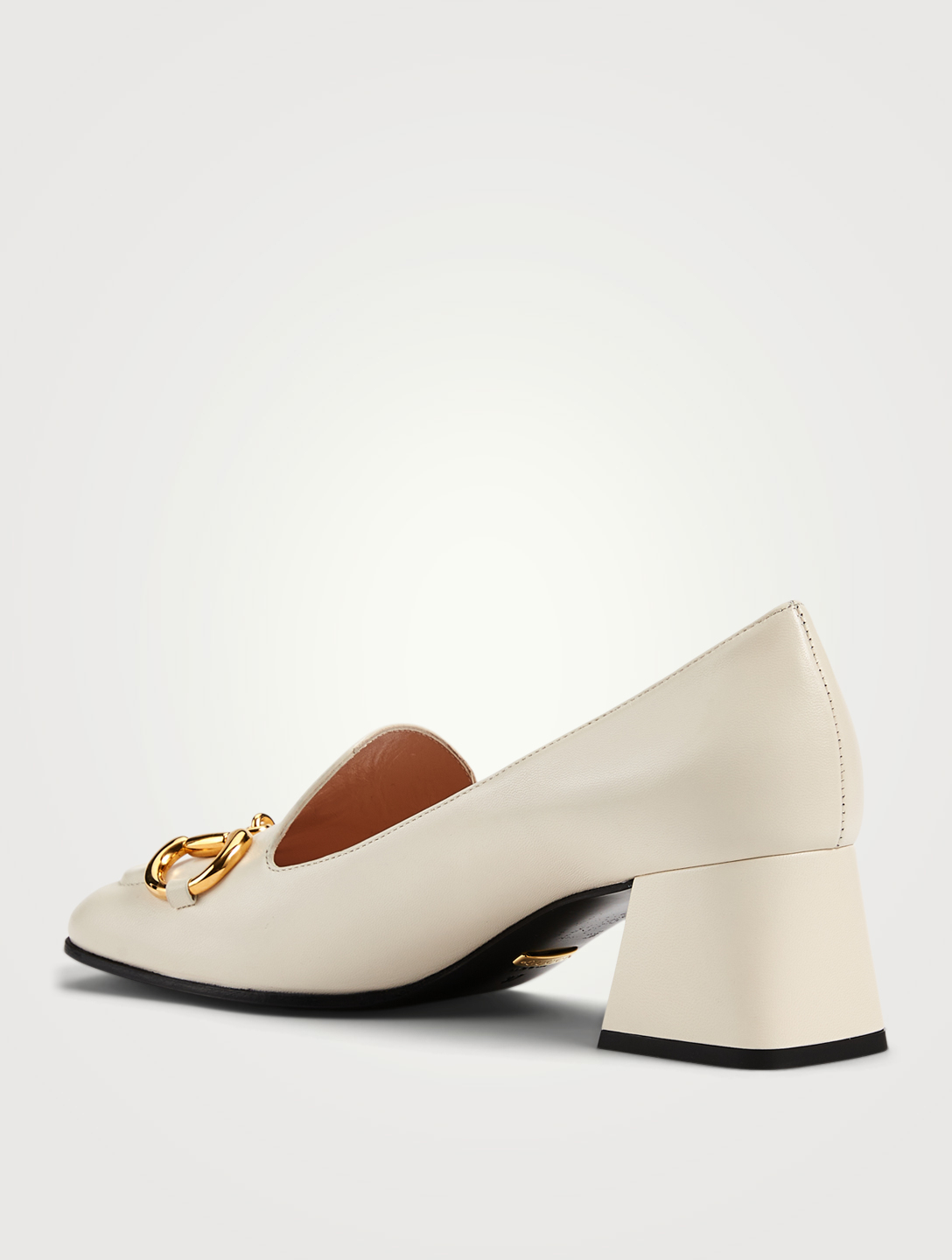 GUCCI Leather Pumps With Horsebit Women's White
