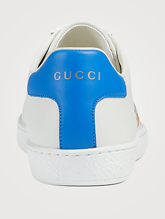 GUCCI DISNEY X GUCCI Ace Leather Sneakers With Donald Duck Print Women's White