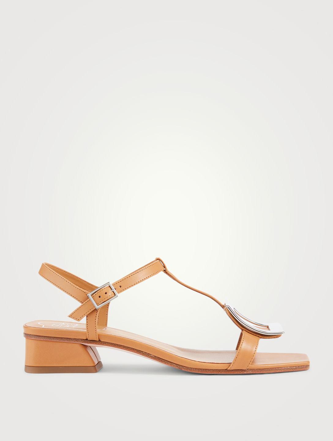 ROGER VIVIER Bikiviv' Leather Heeled Sandals Women's Brown