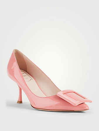 ROGER VIVIER Escarpins Viv' In The City en cuir verni Femmes Rose