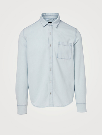 PAIGE Bedford Denim Shirt Men's Blue