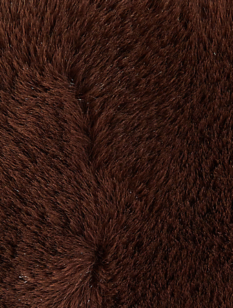 STAND STUDIO Small Liz Faux Fur Tote Bag Women's Brown