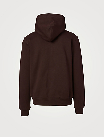 DOLCE & GABBANA Cotton Hoodie With Tonal Crest Men's Purple