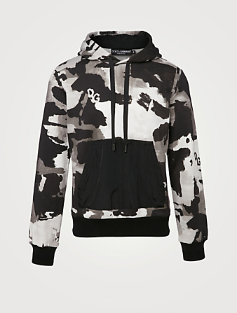 DOLCE & GABBANA Cotton-Blend Hoodie In Camouflage Print Men's Multi