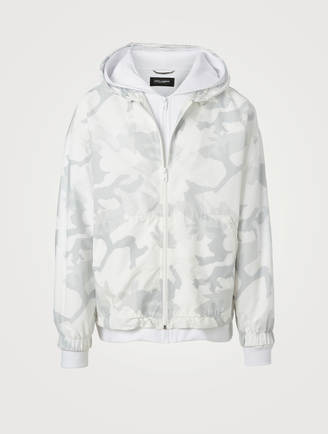 DOLCE & GABBANA Jersey And Nylon Jacket In Camo Print Men's Multi