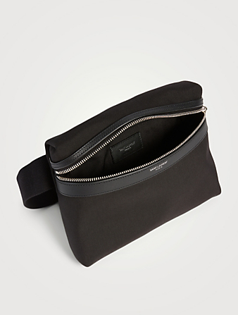 SAINT LAURENT City Nylon Belt Bag Men's Black