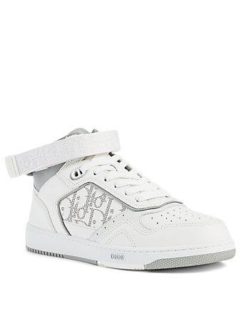 DIOR B27 Dior Oblique Galaxy Leather High-Top Sneakers Men's White