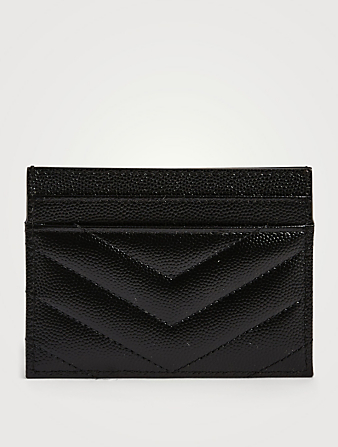 SAINT LAURENT YSL Monogram Leather Card Holder Women's Black